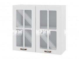 Горен шкаф за кухня Сити БФ-Бяло фладер-04-104 МДФ - 80 см.