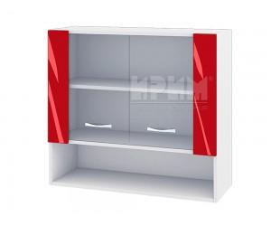 Горен кухненски шкаф с витрини Сити БЧ - 10 - 80 см.