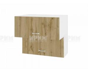 Горен кухненски шкаф Сити БДД-107 с хоризонтални врати - 80 см.