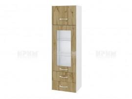 Горен кухненски шкаф Сити БДД-101 с витрина и чекмеджета - 40 см.