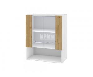 Горен шкаф Сити БДД-109 с витринни врати