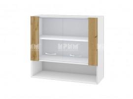 Горен кухненски шкаф Сити БДД-10 с витринни врат- 80 см.