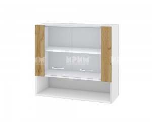 Горен шкаф Сити БДД-110 с витринни врати