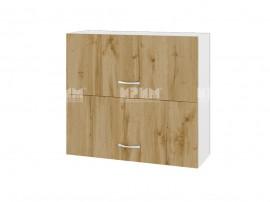Горен кухненски шкаф Сити БДД-12 с хоризонтални врати - 80 см.