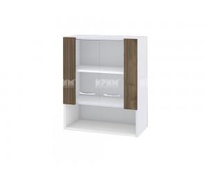 Горен шкаф Сити БО-109 с витринни врати