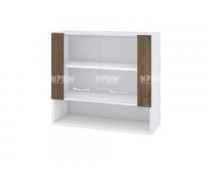 Горен шкаф Сити БО-110 с витринни врати