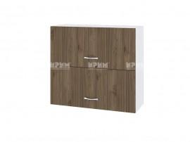 Горен кухненски шкаф Сити БО-12 с хоризонтални врати - 80 см.