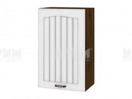 Горен шкаф за кухня Сити ВФ-Бяло фладер-04-56 ляв МДФ - 45 см.