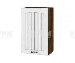 Горен шкаф за кухня Сити ВФ-Бяло фладер-04-6 десен МДФ - 45 см.