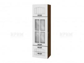 Горен кухненски шкаф Сити ВФ-Бяло фладер-04-101