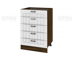 Долен шкаф за кухня Сити ВФ-Бяло фладер-04-29 МДФ - 60 см.