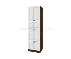 Колонен кухненски шкаф Сити ВФ-Бяло фладер-04-48 десен МДФ - 60 см.