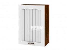 Горен шкаф за кухня Сити ВФ-Бяло фладер-04-18 десен МДФ - 50 см.