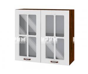 Горен шкаф за кухня Сити ВФ-Бяло фладер-04-104 МДФ - 80 см.