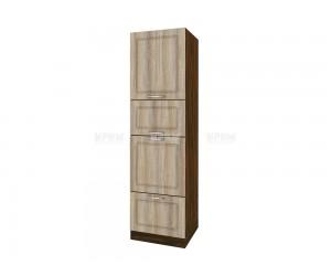 Колонен кухненски шкаф Сити ВФ-Сонома-02-48 МДФ - 60 см.