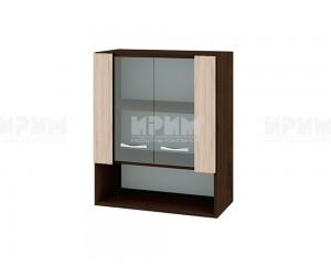 Горен шкаф Сити ВА-9 с витринни врати