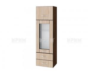 Горен кухненски шкаф Сити ВА - 101 с витрина и чекмеджета - 40 см.