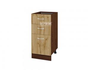 Шкаф Сити ВДД-27 с две чекмеджета и врата
