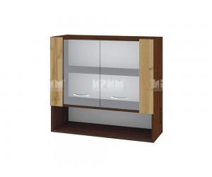 Горен шкаф Сити ВДД-10 с витринни врати