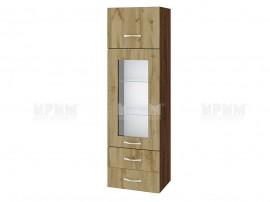 Горен кухненски шкаф Сити ВДД - 101 с витрина и чекмеджета - 40 см.