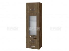 Горен кухненски шкаф Сити ВО-101 с витрина и чекмеджета - 40 см.