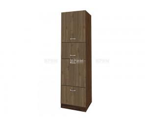 Колонен кухненски шкаф Сити ВО - 48 за печка и микровълнова печка - 60 см.