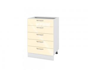 Долен шкаф за кухня Сити БФ-Бежово гланц-05-29 МДФ - 60 см.