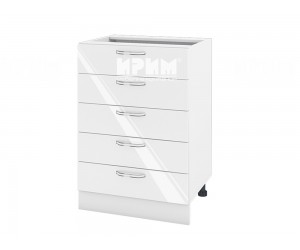Долен шкаф за кухня Сити БФ-Бяло гланц-05-29 МДФ - 60 см.
