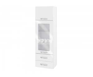 Горен шкаф за кухня Сити БФ-Бяло гланц-05-201 МДФ - 40 см.