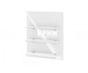 Кухненска етажерка за стена Сити Ф-Бяло гланц-05-106 МДФ - 60 см.