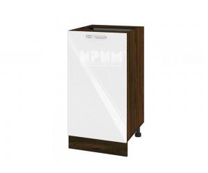 Долен шкаф за кухня Сити ВФ-Бяло гланц-05-28 МДФ - 45 см.