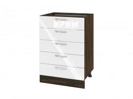 Долен шкаф за кухня Сити ВФ-Бяло гланц-05-29 МДФ - 60 см.