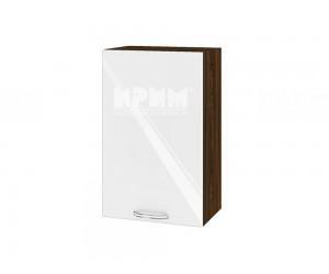 Горен шкаф за кухня Сити ВФ-Бяло гланц-05-6 МДФ - 45 см.