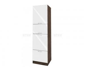 Колонен кухненски шкаф Сити ВФ-Бяло гланц-05-48 МДФ - 60 см.