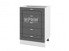 Долен шкаф за кухня Сити БФ-Цимент мат-06-29 МДФ - 60 см.
