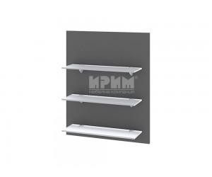 Кухненска етажерка за стена Сити Ф-Цимент мат-06-106 МДФ - 60 см.