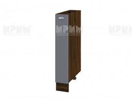 Долен шкаф-бутилиера за кухня Сити ВФ-Цимент мат-06-41 МДФ - 15 см.