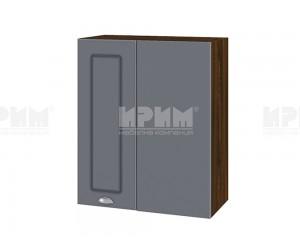 Горен кухненски шкаф за ъгъл Сити ВФ-Цимент мат-06-17 МДФ - 60 см.