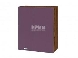Горен кухненски шкаф за ъгъл Сити ВФ-Лилаво мат-05-17 с широчина 60 см.