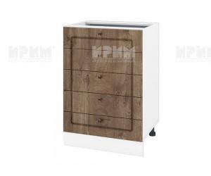 Долен шкаф за кухня Сити БФ-Дъб натурал-06-29 МДФ - 60 см.