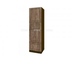 Колонен кухненски шкаф Сити ВФ-Дъб натурал-06-48 МДФ - 60 см.