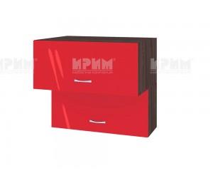 Горен кухненски шкаф Сити ВЧ - 107 с хоризонтални врати - 80 см.