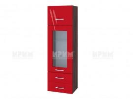 Горен кухненски шкаф Сити ВЧ - 101 с витрина и чекмеджета - 40 см.