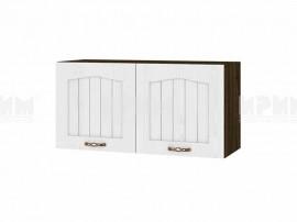 Горен шкаф за кухня Сити ВФ-Бяло фладер-04-108 МДФ - 80 см.