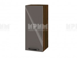 Горен шкаф за кухня Сити ВФ-Антрацит гланц-05-1 МДФ - 30 см.