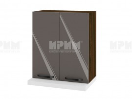 Горен кухненски шкаф за аспиратор ВФ-Антрацит гланц-05-13 МДФ - 60 см.