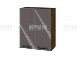 Горен шкаф за кухня Сити ВФ-Антрацит гланц-05-3 МДФ - 60 см.