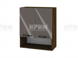 Горен шкаф за кухня с ниша Сити ВФ-Антрацит гланц-05-7 МДФ - 60 см.