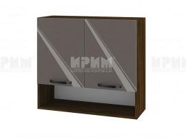 Горен шкаф за кухня с ниша Сити ВФ-Антрацит гланц-05-8 МДФ - 80 см.