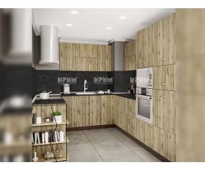 Ъглов кухненски комплект Сити 927 - с цял термоплот